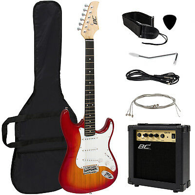 Full Size Electric Guitar - 10 Watt Amp - Gig Bag Case - Guitar Strap Beginners