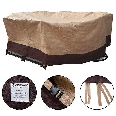 72 Waterproof OvalRect Patio Table Cover Outdoor Garden Furniture Protection
