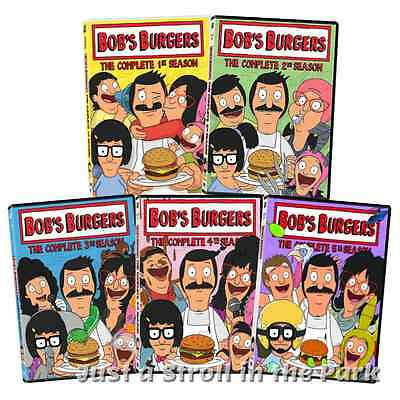 Bobs Burgers TV Series Complete Seasons 1 2 3 4 5 Box  DVD Sets NEW