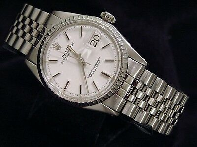 Rolex Datejust Mens Watch Stainless Steel with Jubilee Band - White Dial 1603