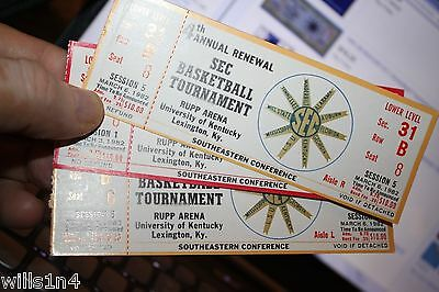 1981-82   SEC Basketball Tournament Full Ticket - Session 1-5