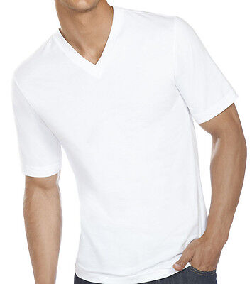 New 3-6 Pack Mens 100 Cotton Tagless V-Neck T-Shirt Undershirt Tee White S-XL