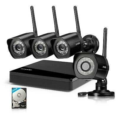 Zmodo 8CH 1080p HDMI NVR w 720p IR-cut CCTV Video Camera Home Security System