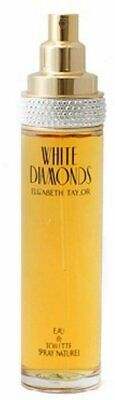 WHITE DIAMONDS by ELIZABETH TAYLOR 3-3 oz  3-4 oz edt tester