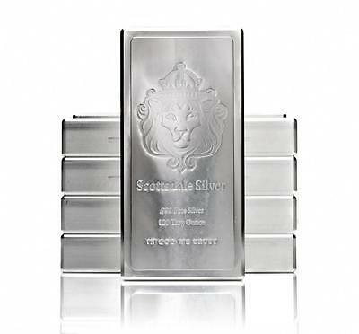 100 oz Scottsdale Stacker Silver Bar -999 Silver Bullion A209