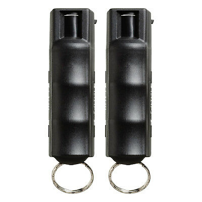 2 Pack Sabre 3-in-1 Defense Pepper Spray 10ft- Range with Quick Release Key Ring