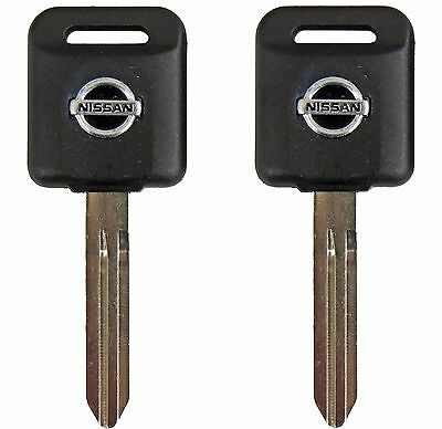 2 Ignition Key Blanks for Nissan Titan and Frontier- Transponder chip key ID 46