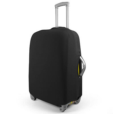Black 24 Travel Trolley Luggage Cover Dust-proof Protector Elastic Suitcase Bag