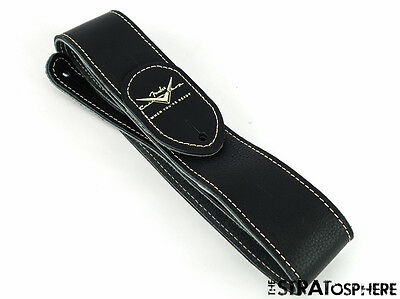 Fender USA Custom Shop GUITAR STRAP Stratocaster Strat Black Leather American