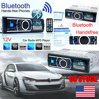 Bluetooth Car Stereo Audio In-Dash FM Aux Input Receiver SD MP3 Radio Player