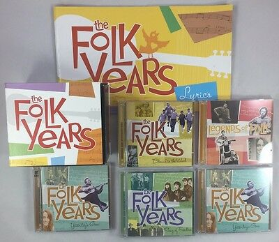 3 Sealed Lot of 5 The Folk Years 10 CD Group