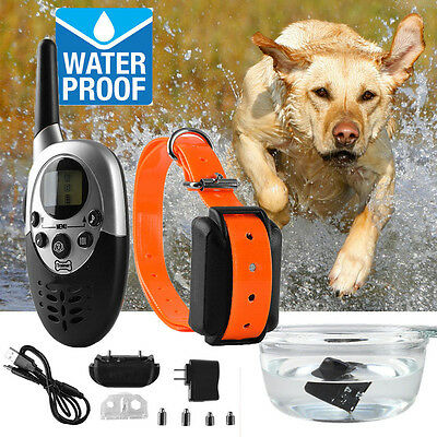 1000 Yards Rechargeable Waterproof Remote 20-150lb Pet Dog Training Collar Shock