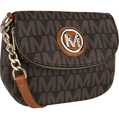 MKF Collection by Mia K- Farrow York M Signature Cross-Body Bag NEW
