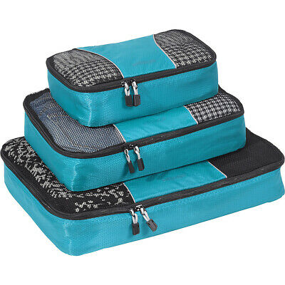 eBags Classic Packing Cubes - 3pc Set 15 Colors Travel Organizer NEW