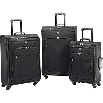 American Tourister Pop Plus 3pc Spinner Set 4 Colors Luggage Set NEW