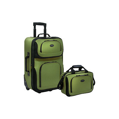 Travelers Choice Rio 2-Piece Lightweight Carry-On Luggage Set NEW