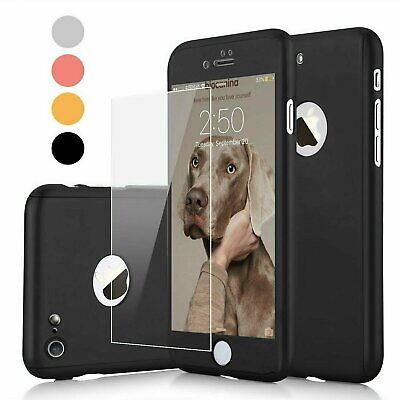 For Apple iPhone 6 6s  6 Plus Case Ultra Thin Slim Hard Cover- Tempered Glass