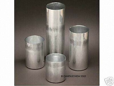 Round Pillar Seamless Aluminum Candle Molds 3 inch size You Choose Height