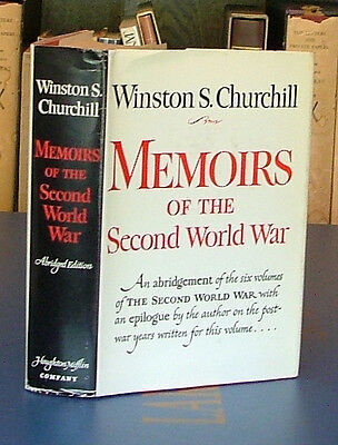 Memoirs of the Second World War by Winston Churchill 1st in Dj Abridged 1959