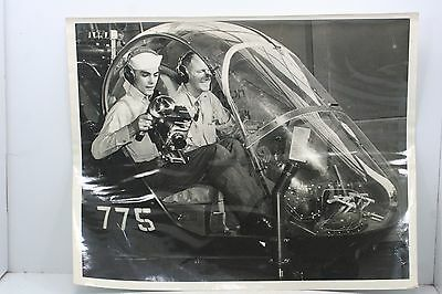 Vintage Navy Photo - 8 x 10 - Black - White - Helicopter 775