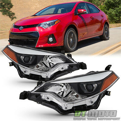 For 2014-2016 Toyota Corolla LED Headlights Headlamp Aftermarket Left-Right