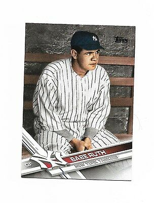 2017 Topps Series 2 Babe Ruth SSP New York Yankees Card SP