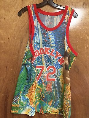NEW mens MULTICOLOR Biggie Smalls NOTORIOUS B-I-G sleeveless jersey BROOKLYN Med