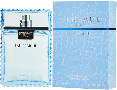 VERSACE Man Eau Fraiche for Men 3-4 oz cologne 3-3 EDT Spray NEW IN BOX