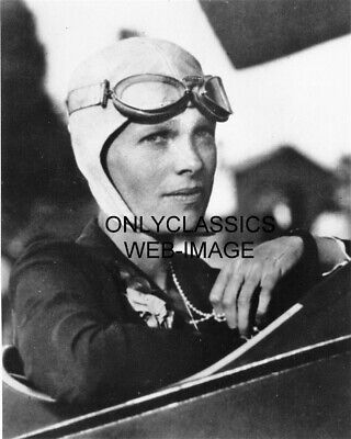 AVIATRIX AMELIA EARHART HOLDING BEAD NECKLACE FOR LUCK PHOTO AIRPLANE AVIATION