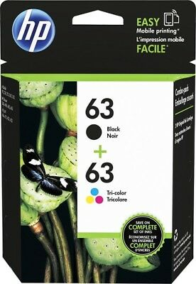 HP 63 Combo Ink Cartridges 63 Black - Color NEW GENUINE