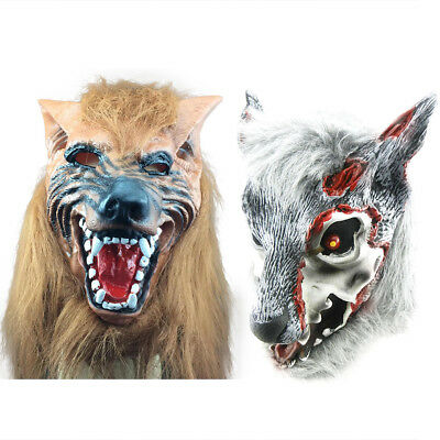 Simulation Animal Latex Wolf Head Mask Cosplay Halloween Party Costume Prop Gift