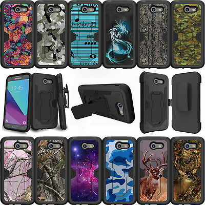 For Samsung Galaxy J3 Eclipse  J3 Mission 2017 Case Holster Clip Stand Camos