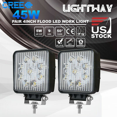 4Inch 45W CREE LED Work Light Pod Offroad Truck SUV UTV ATV Driving Lamp VS 27W