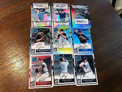 9 2017 Optic AUTO LOT Base Refractor Insert Rated Rookie RC