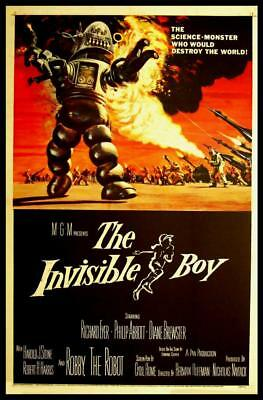 Invisible Boy Vintage movie poster A3 CANVAS PRINT 18X 12