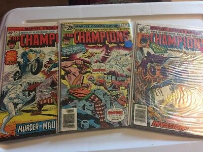 The Champions lot of 3 s 4 6 14 Marvel Comic Book