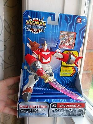NEW in Box DIGIMON FUSION SHOUTMON X4 Sword Slashing TOUCH DEVICE ENABLED