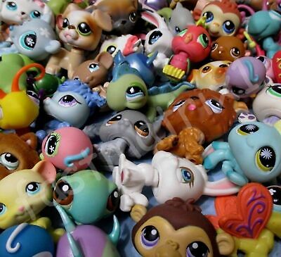 Littlest Pet Shop Lot 10 Pcs Random Figures and 3 Accessories Authentic LPS