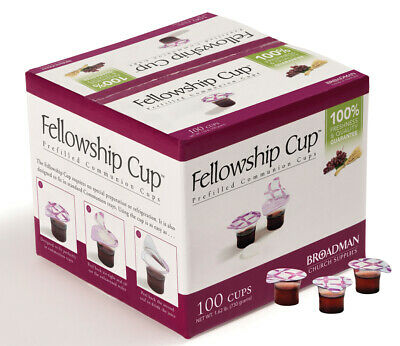 Broadman Church Supplies Prefilled Communion Fellowship Cup Juice and Wafer 500