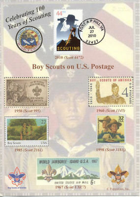 BOY SCOUTS Celebrating 100 Years of SCOUTING 5 x 7 First Day Cover