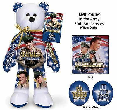 Elvis Presley 50th Anniversary US Army Teddy bear