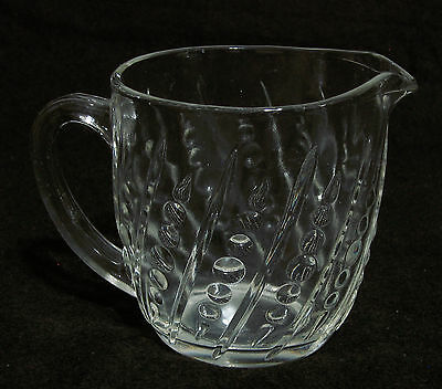 EAPG BEAD - BAR CLEAR GLASS CUP with Pour Spout