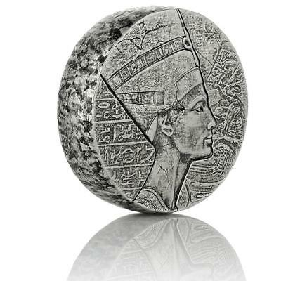 2017 5 oz Egyptian Nefertiti Silver Coin -999 Silver BU A439