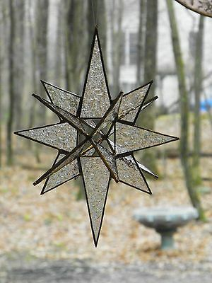 16POINT STAINED GLASS MORAVIAN STAR SUNCATCHER GIFT