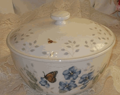 Lenox China Butterfly Meadow Covered Bowl