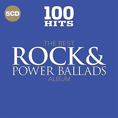 Various Artists - 100 Hits Best Rock - Power Ballads Album  Various New CD B