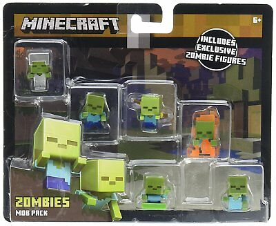 Mattel Minecraft Zombie Mini-Figure Mob Pack Action Figures NEW  sdec17-36