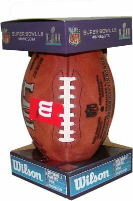 NFL Super Bowl 52 Authentic Wilson Game Football w Eagles - Patriots Inscribed
