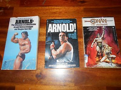 Lot of 3 ARNOLD SCHWARZENEGGER bodybuilding muscle softcover books