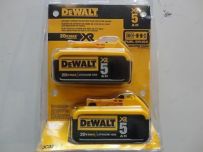 DEWALT DCB205-2 20V 20 Volt Lithium Ion 5-0 AH Battery Packs New In Package NIP